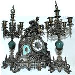 Часы настольные механические с боем из бронзы reg20032