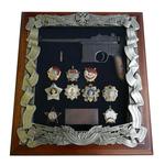 Панно с пистолетом Маузер и наградами СССР gt16-283