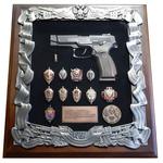 Панно с пистолетом Ярыгина (ПЯ) и знаками ФСБ gt16-290