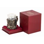 """Подстаканник """"Рог изобилия"""" (стакан - хрусталь с золотым ободком, картонный футляр) ПДКО-331У"""