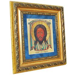 """Икона """"Христос Вседержитель"""" на сусальном золоте reg20008"""