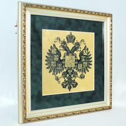"""Картина """"Герб"""" на сусальном золоте reg20017"""