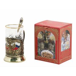 """Набор для чая """"Герб России"""" (3 предмета) ПД-89эК-л"""