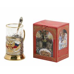 """Набор для чая """"Герб России"""" (3 предмета) ПД-4э К"""