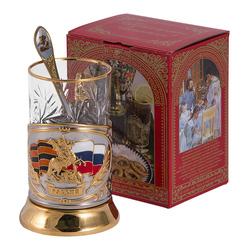 """Набор для чая """"Россия"""" (3 предмета) ПД-115э ШК-Георг."""