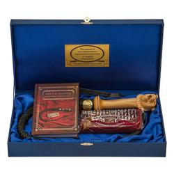 """Подарочный набор """"Кнут и пряник"""" (деревянная ручка, книга """"Кнут и пряник"""") ПН-21медведь"""