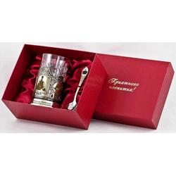 """Набор для чая подарочный """"Лучшая начальница!"""" (3 предмета) в футляре ПД-337У-л"""