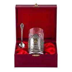 """Набор для чая подарочный """"С юбилеем! 75 лет"""" (3 предмета) в футляре ПД-178"""