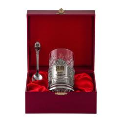 """Набор для чая подарочный """"С юбилеем! 80 лет"""" (3 предмета) в футляре ПД-279"""