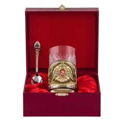 """Набор для чая подарочный """"Росгвардия"""" (3 предмета) в футляре ПД-617/1-л"""