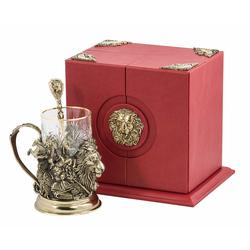 """Набор для чая подарочный """"Лев"""" (3 предмета) в футляре ПДКО-322"""