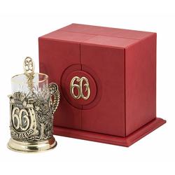 """Набор для чая """"С юбилеем! 60 лет"""" 3 предмета ПДКО-325"""