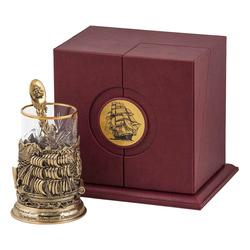 """Набор для чая подарочный """"Попутного ветра"""" (3 предмета) в футляре ПДКО-332"""