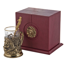 """Набор для чая подарочный """"Медведь"""" (3 предмета) в футляре ПДКО-333"""