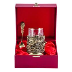 """Набор для чая подарочный """"Рыбаки"""" (3 предмета) в футляре ПДКО-334ДФ"""