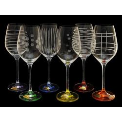 Rona Бокалы для вина 6 шт. Celebration разноцветные