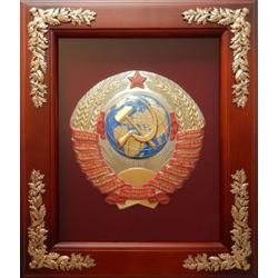 """Деревянная ключница настенная """"Герб СССР"""" 19-351"""