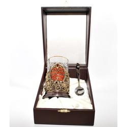 """Набор для чая подарочный """"Мудрый руководитель"""" (3 предмета) в кожаном футляре reg22111"""
