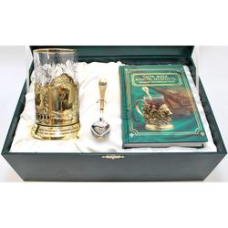 """Набор для чая подарочный с книгой """"Мудрый начальник!"""" в футляре reg23011"""