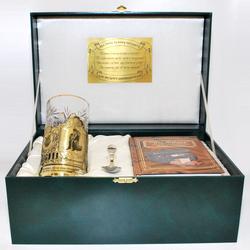 """Набор для чая подарочный с книгой """"Мудрый начальник!"""" в футляре reg23012"""