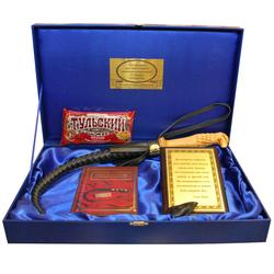 """Подарочный набор """"Кнут и пряник"""" (деревянная ручка) reg23015"""