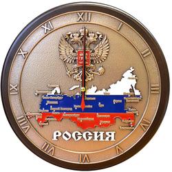 """Настенные часы """"Карта России"""" gt19-344"""