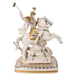 Скульптура Георгий-Победоносец большая на подставке