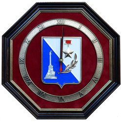 "Настенные часы ""Герб Севастополя"" gt18-325"