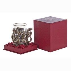 "Подстаканник ""Хирурги"" (стакан - хрусталь с золотым ободком, картонный футляр) ПДКО-335У"
