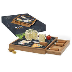Easy Life (R2S) Набор для сыра: разделочная доска + 4 ножа Мир сыров 46543