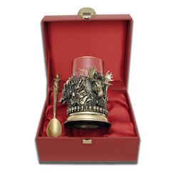 """Набор для чая подарочный """"Охота.Трофеи"""" (3 предмета) в футляре ПДКО-337ДФ"""