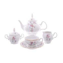 Чайный сервиз Bernadotte Дикая роза золото 6 персон 17 предметов GL08528