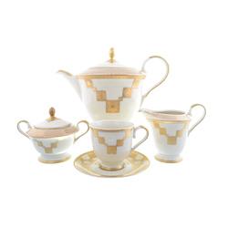 Чайный сервиз Carlsbad Ромео Золотой орнамент 6 персон 15 предметов GL09631
