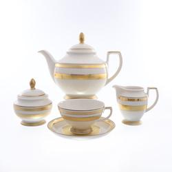 Чайный сервиз Falkenporzellan Constanza Cream Gold 6 персон 17 предметов GL09835