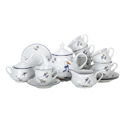 Чайный сервиз Thun Констанция Гуси 6 персон 17 предметов GL10005