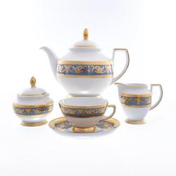 Чайный сервиз Falkenporzellan Imperial Blue Gold 6 персон 17 предметов GL11292