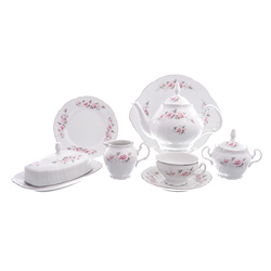 Чайный сервиз Bernadotte Серая роза платина 12 персон 43 предмета GL11852