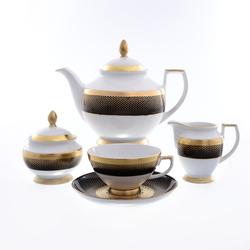 Чайный сервиз Falkenporzellan Rio black gold 6 персон 17 предметов GL23532