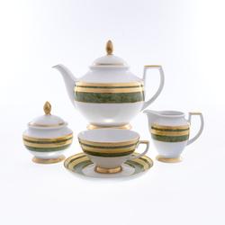 Чайный сервиз Falkenporzellan Green Gold 6 персон 17 предметов GL25192