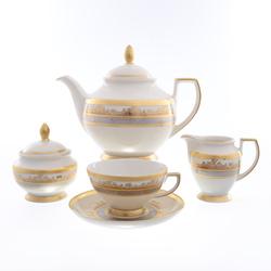 Чайный сервиз Falkenporzellan Cream Gold 6 персон 17 предметов GL25565