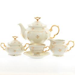 Чайный сервиз Thun Мария Луиза Ivory 6 персон 17 предметов GL27282