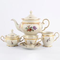 Чайный сервиз Carlsbad Болеро Цветочный букет 6 персон 15 предметов GL28951