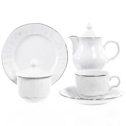 Чайный сервиз на 6 персон Bernadotte Платиновый узор 22 предмета GL30313