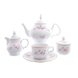 Чайный сервиз Bernadotte Серая роза золото 6 персон 22 предмета GL30317