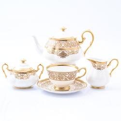 Чайный сервиз Prouna Golden Romance Cream Gold 6 персон 17 предметов GL32263