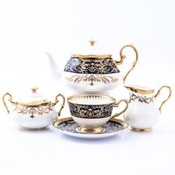 Чайный сервиз Prouna Clarice Cobalt Gold 6 персон 17 предметов GL32271
