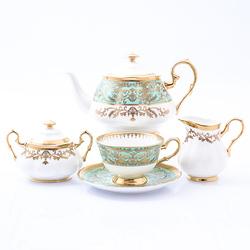 Чайный сервиз Prouna Clarice Light Green 6 персон 17 предметов GL32279
