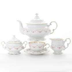 Чайный сервиз Leander Соната мелкие цветы 6 персон 17 предметов GL33395