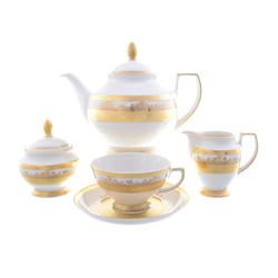 Чайный сервиз Falkenporzellan Cream Gold 6 персон 17 предметов GL37513