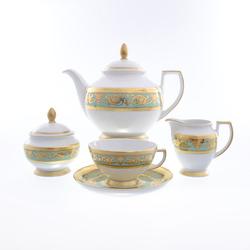 Чайный сервиз Falkenporzellan Imperia Seladon Gold 6 персон 17 предметов GL39940